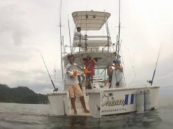 Dream II Back with happy fisherman, Los Suenos Costa Rica