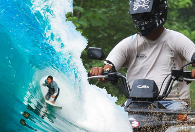 ATV Adventures combined with Surfing at GoCostaRicaFishing.com